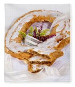 Danish Pastry Ring With Pecan Filling Fleece Blanket