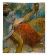 Danseuse A L'eventail Fleece Blanket