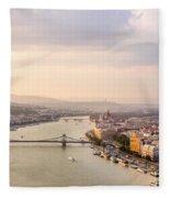 Danube Sunset Fleece Blanket
