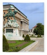 Danube Terrace At Buda Castle In Budapest Fleece Blanket