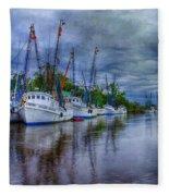 Darien Harbor Fleece Blanket