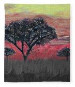 Dark Africa Fleece Blanket