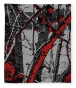 Dark Branches Fleece Blanket