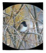Dark- Eyed Junco Fleece Blanket