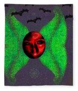 Dark Fallen Angel Fleece Blanket