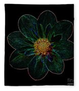 Dark Flower 2 Fleece Blanket