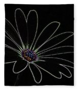 Dark Flower Fleece Blanket