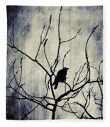 Crow In Dark Lights Fleece Blanket