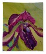 Dark Orchid Fleece Blanket