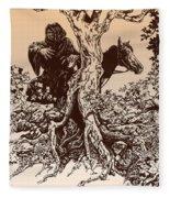 Dark Rider-tolkien Appreciation Fleece Blanket