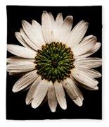 Dark Side Of A Daisy Square Fleece Blanket