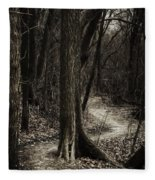 Dark Winding Path Fleece Blanket