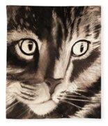 Darling Cat Fleece Blanket