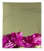 Darling Dianthus Fleece Blanket