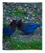 Darling I Have To Tell You A Secret-sweet Stellar Jay Couple Fleece Blanket