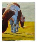 Dartmoor Ponies Fleece Blanket