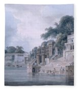 Dasasvamedha Ghat, Benares, Uttar Fleece Blanket