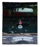 Dashboard Hula Girl Fleece Blanket