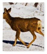 Dashing Through The Snow Fleece Blanket