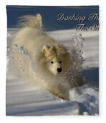 Dashing Through The Snow Fleece Blanket