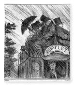 Bus, 1856 Fleece Blanket