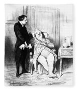 Daumier: Doctor Cartoon Fleece Blanket