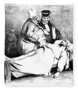 Daumier: Republican, 1834 Fleece Blanket