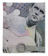 Dave Matthews All The Colors Mix Together Fleece Blanket