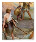 David And Goliath Fleece Blanket