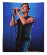 David Bowie 2 Painting Fleece Blanket