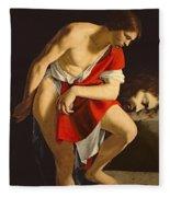 David Contemplating The Head Of Goliath Fleece Blanket