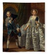 David Garrick And Mrs. Pritchard In Benjamin Hoadley's The Suspicious Husband  Fleece Blanket