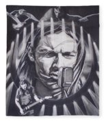 David Gilmour Of Pink Floyd - Echoes Fleece Blanket