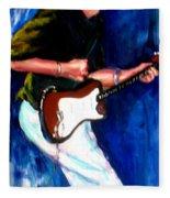 David On Guitar Fleece Blanket