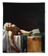 David: The Death Of Marat Fleece Blanket