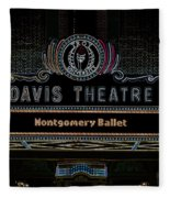 David Theatre Neon - Montgomery Alabama Fleece Blanket