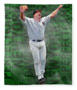 David Wells Yankees Perfect Game 1998 Fleece Blanket