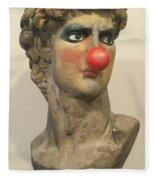 David With Makeup And Clown Nose 1 Fleece Blanket