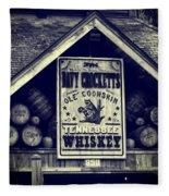 Davy Crocketts Tennessee Whiskey Fleece Blanket