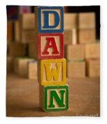 Dawn - Alphabet Blocks Fleece Blanket