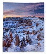 Dawn At Bryce Fleece Blanket