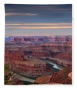 Dawn At Dead Horse Point Fleece Blanket
