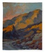 Dawn At La Quinta Cove Fleece Blanket