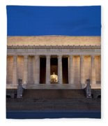 Dawn At Lincoln Memorial Fleece Blanket