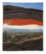 Dawn At Mesa Arch Canyonlands Utah Fleece Blanket