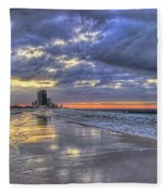 Dawn At The Cottages Of Romar Fleece Blanket