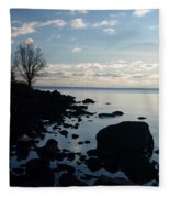 Dawn At The Cove Fleece Blanket
