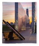 Dawn At The Empty Sky Memorial Fleece Blanket