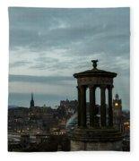 Dawn In Edinburgh Fleece Blanket