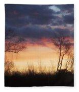 Dawn In The Catskills Fleece Blanket